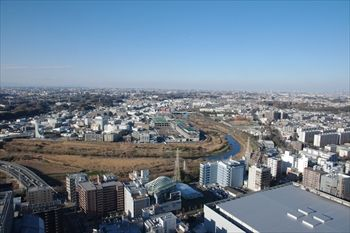 新横浜にある「トップ オブ ヨコハマ」からの景色