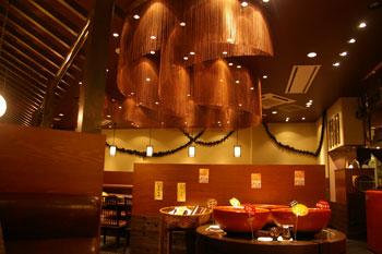 トレッサ横浜の和食のお店「一汁五穀」の店内