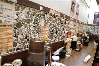 新横浜にある新横浜ラーメン博物館の「麺の坊 砦」の店内