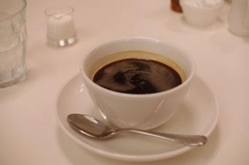 横浜みなとみらいの「ラ・メゾン アンソレイユターブル」のコーヒー
