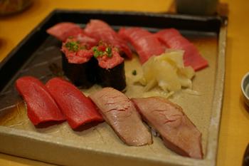 横浜そごう10階の寿司屋「豊魚」のまぐろのお寿司