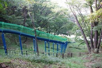 横浜市旭区にある公園「県立四季の森公園」のすべり台