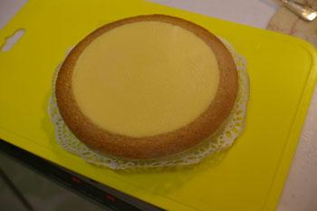 「伝説のチーズケーキ ガトーよこはま」のチーズケーキ
