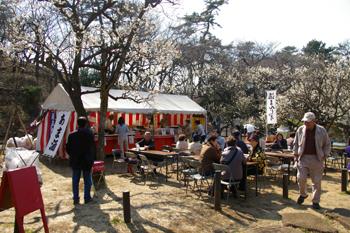 大倉山公園内のフードスペース