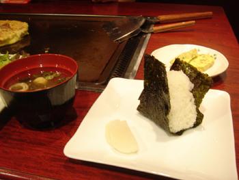 横浜シァルのお好み焼き屋「ゆかり」のランチセット