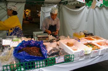 横浜市場まつりの模擬店