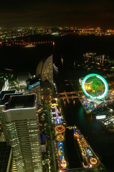 横浜ランドマークタワー「スカイガーデン」からの夜景
