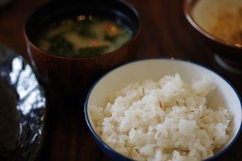 新横浜にあるとんかつ屋さん「かつくら」のご飯
