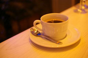 横浜みなとみらい「ブラッセリーハタ」のコーヒー