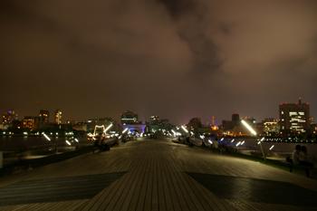 横浜大さん橋のデッキ