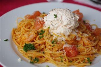 横浜みなとみらいにあるレストラン「セレブ・デ・トマト」のパスタ