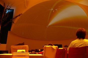 ららぽーと横浜にあるムーミンオーロラカフェのプラネタリウム