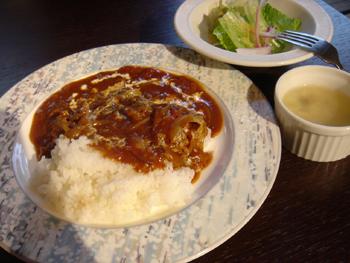 横浜元町のカフェ「汐汲坂ガーデン」のハヤシライスランチ
