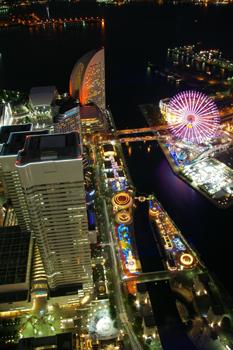 横浜ランドマークタワー スカイガーデンからの夜景