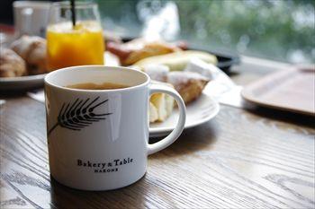 箱根にあるカフェ「ベーカリー&テーブル」のドリンク