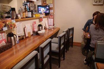 横浜関内にあるタンメンのお店「青空」の店内