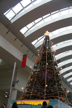 みなとみらいクイーンズスクエア横浜のクリスマスツリー