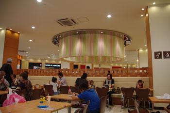 トレッサ横浜にあるフードコートの内装