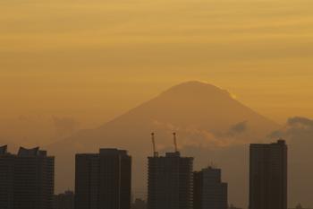 横浜大黒大橋からの夕景(富士山)
