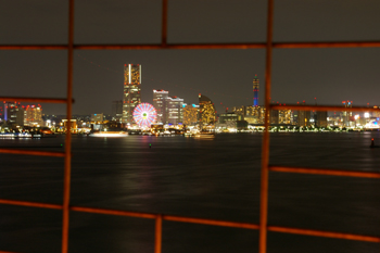 横浜ベイブリッジスカイウォークからの眺め