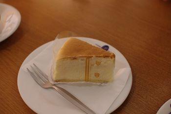 横浜あざみ野にあるカフェ「プチゾウ」のチーズケーキ
