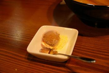 横浜東白楽のラーメン店「めんこい亭」のアイスクリーム