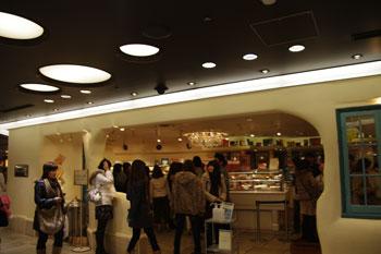 横浜ジョイナスにあるケーキショップ「キルフェボン」の外観