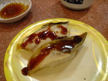 横浜相鉄ジョイナスの回転寿司「魚敬」の穴子