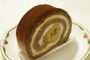 おいしいロールケーキ「モトヤデザート」のバナナキャラメルナッツ