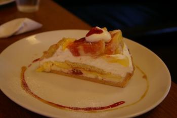 横浜山手にあるブラフカフェモトヤのいちじくタルト