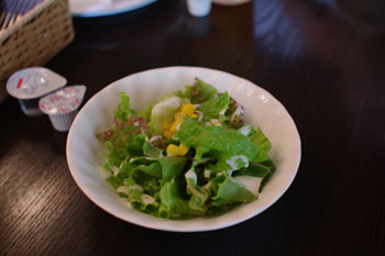 横浜たまプラーザにあるハンバーグのお店「BARG☆BARG」のサラダ