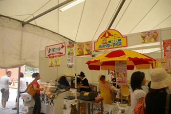横浜赤レンガ倉庫のイベント「横濱あいすくりん博覧会」会場1