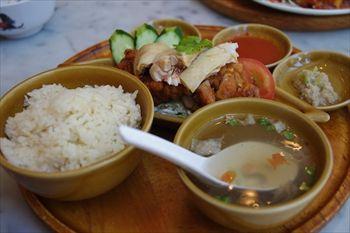 東京汐留にあるシンガポール料理のお店「海南鶏飯」のランチ