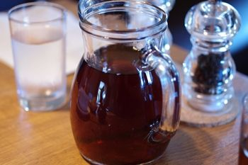 横浜青葉台にある「ハンバーグファクトリー」のお茶