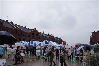 横浜赤レンガ倉庫のパンフェスの会場