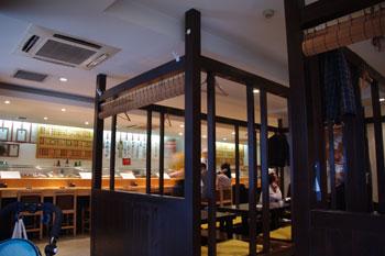 横浜岸根公園にあるお寿司屋「まぐろ一家」の店内