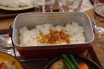 横浜元町にあるスープカレー専門店「アルペンジロー」のライス