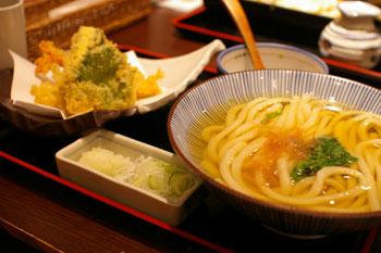 そごう横浜店のおいしいうどん屋「ゑべっさん」の海老天ぷらうどん