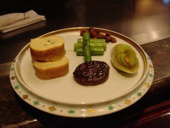 横浜ロイヤルパークホテルの鉄板焼き「よこはま」の焼き野菜