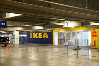 横浜港北IKEAの駐車場入り口