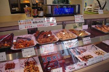 横浜綱島にある鶏肉専門店「梅や」の店内