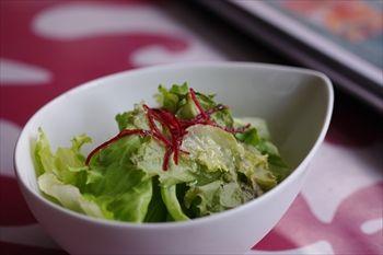横浜仲町台にあるハワイアンカフェ「H1 CAFE」のサラダ