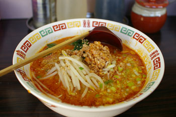 横浜本牧にある坦々麺のお店「白湯麺屋」の坦々麺