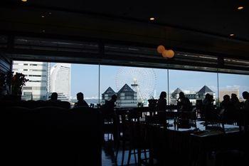 横浜みなとみらいのイタリアンレストラン「マンジャマンジャ」の景色
