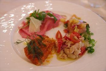 横浜みなとみらいにあるイタリアン「レオーネ・マルチアーノ」の前菜