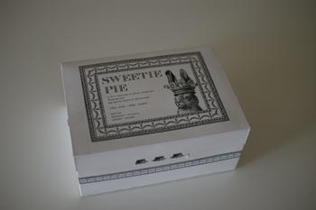 「SWEETIE PIE by PARIYA」のカップケーキの箱