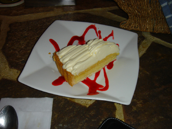 イタリアンレストラン「Freshness Land Fruits」のチーズケーキ