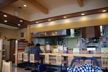 横浜鴨居にある和食のお店「かっすい亭」の店内