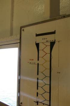 横浜本牧埠頭のシンボルタワー内部
