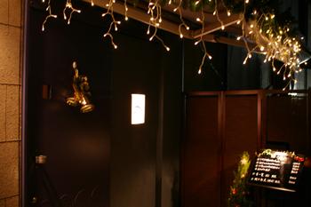 横浜桜木町の横濱鍋の店「友楽」の入り口